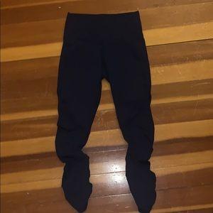 navy blue fabletics leggings